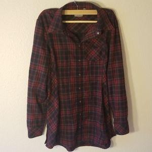 Athleta plaid LumberJill flannel shirt